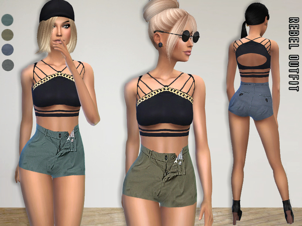 Sims 4 Rebel Outfit by Puresim at TSR