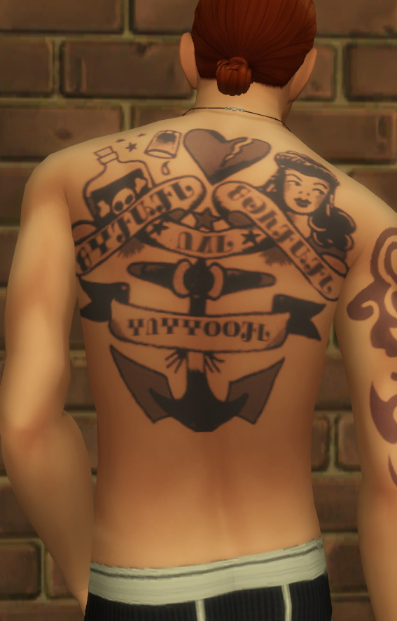 Windenburg Ink Part 1 Back Tattoos Male Only At
