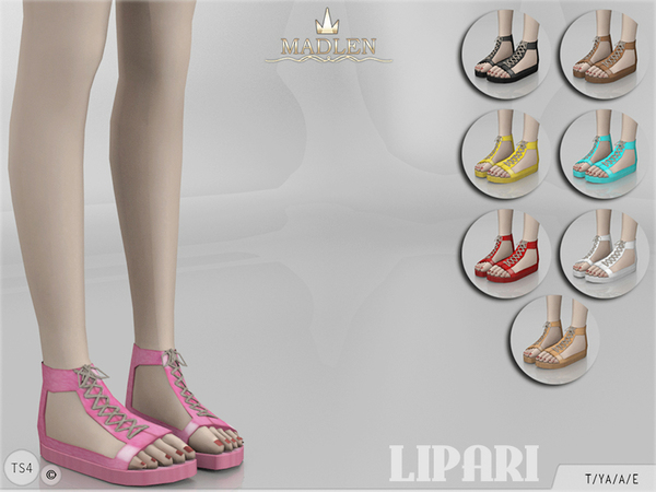 Sims 4 Madlen Lipari Shoes by MJ95 at TSR