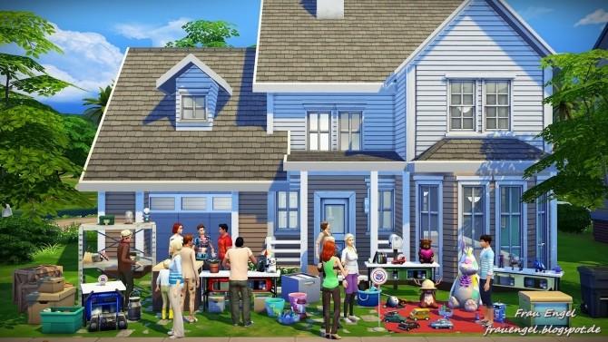 Garage sale no cc at frau engel sims 4 updates for Sims 4 garage