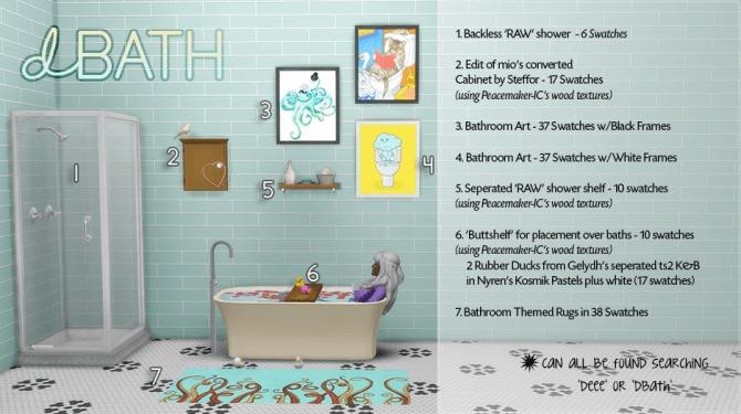 Sims 4 dBATH Deco Set by dtron at SimsWorkshop
