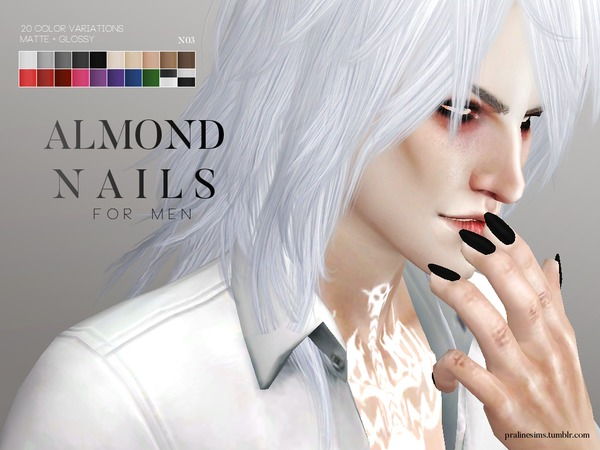 Sims 4 Nail Pack For Men by Pralinesims at TSR