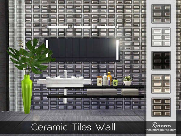 Ceramic Tiles Wall by Rirann at TSR image 3817 Sims 4 Updates