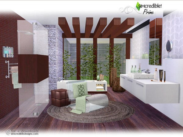 Prime modern bathroom by SIMcredible at TSR image 3826 Sims 4 Updates