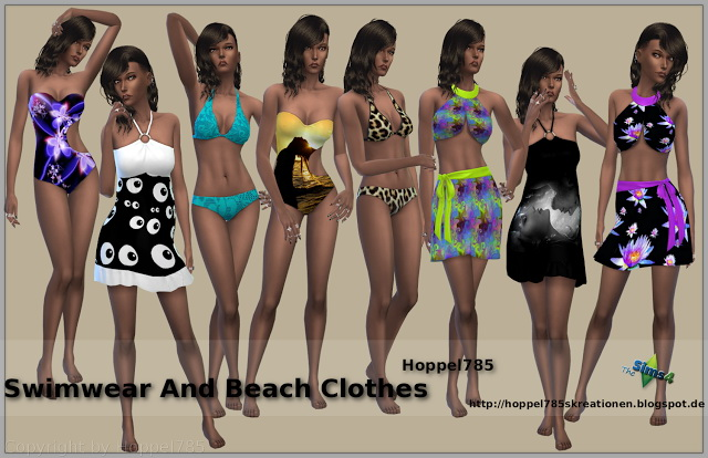Swimwear And Beach Clothes at Hoppel785 image 3917 Sims 4 Updates