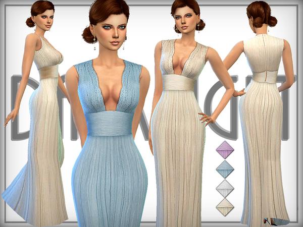 Sims 4 RITA dress by DarkNighTt at TSR