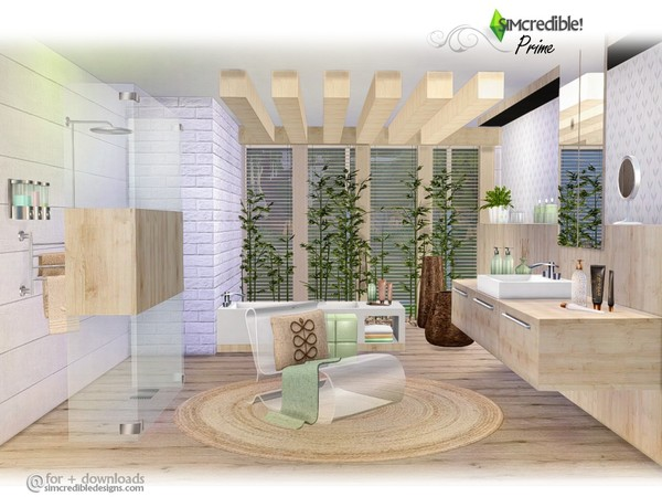 Prime modern bathroom by SIMcredible at TSR image 3926 Sims 4 Updates