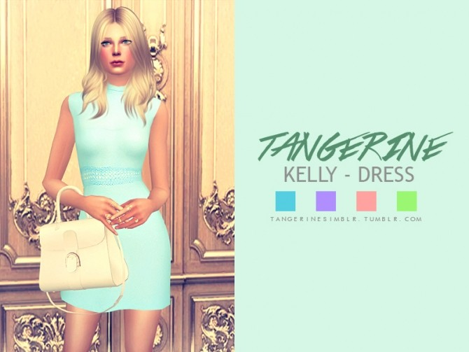 Sims 4 Kelly dress at Tangerine Simblr