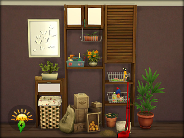 Boxroom decorative set by Solny at TSR image 4 Sims 4 Updates