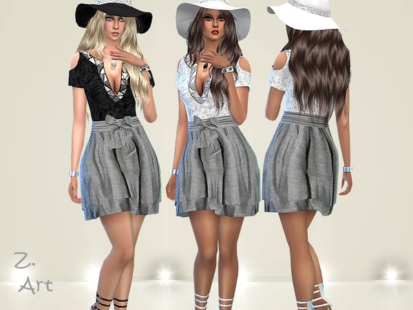 Sims 4 Simple Chic dress by Zuckerschnute20 at TSR