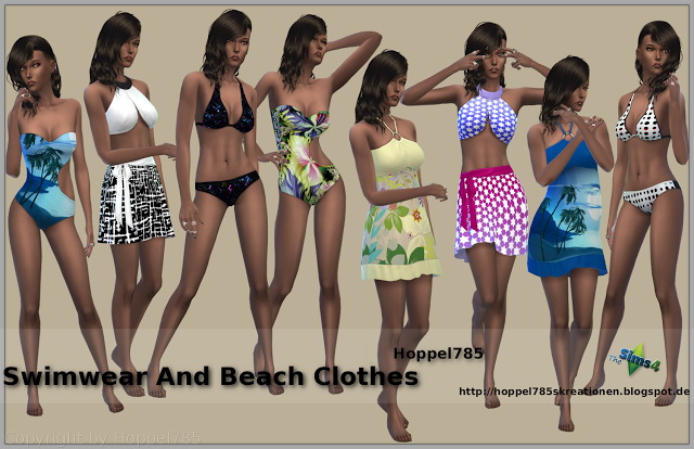 Swimwear And Beach Clothes at Hoppel785 image 4017 Sims 4 Updates