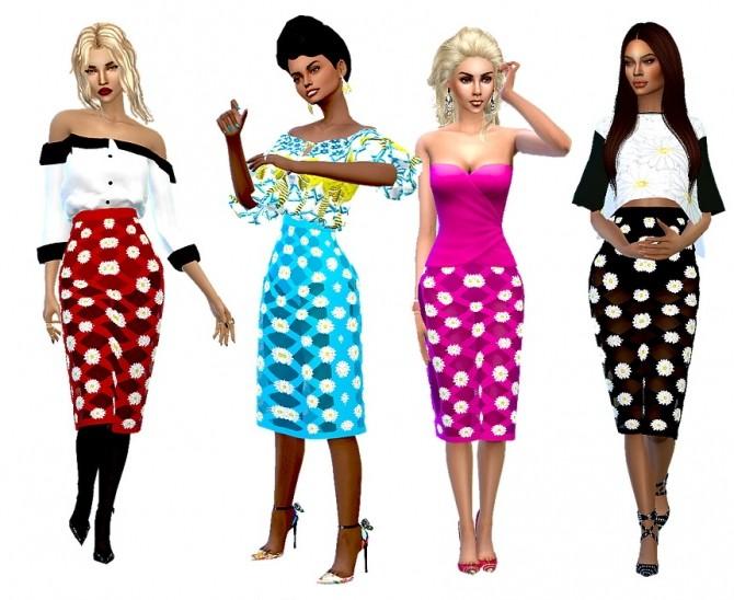Sims 4 Daisy skirt at Dreaming 4 Sims