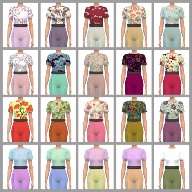 Sims 4 Amal Jumpsuit Recolors at Maimouth Sims4