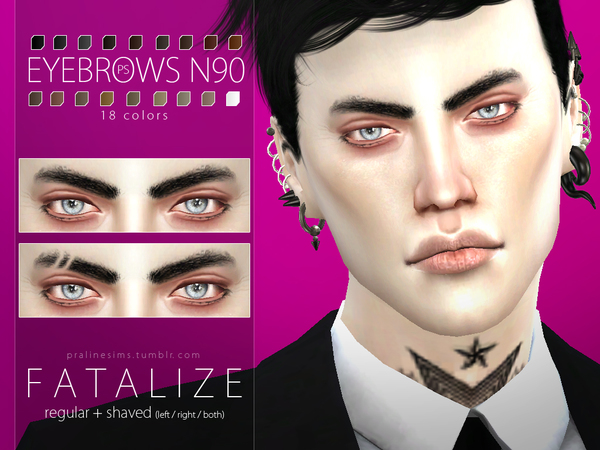 Fatalize Eyebrow Duo by Pralinesims at TSR image 41 Sims 4 Updates