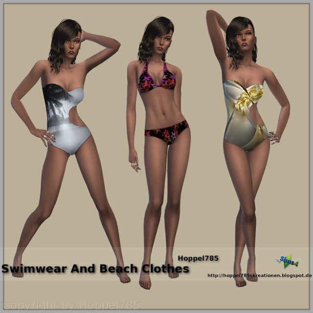 Swimwear And Beach Clothes at Hoppel785 image 4118 Sims 4 Updates