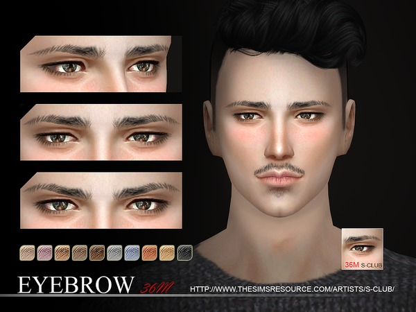 Sims 4 Eyebrows 36 M by S Club WM at TSR