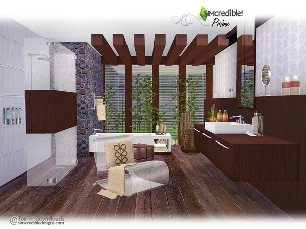 Prime Modern Bathroom By Simcredible At Tsr 187 Sims 4 Updates