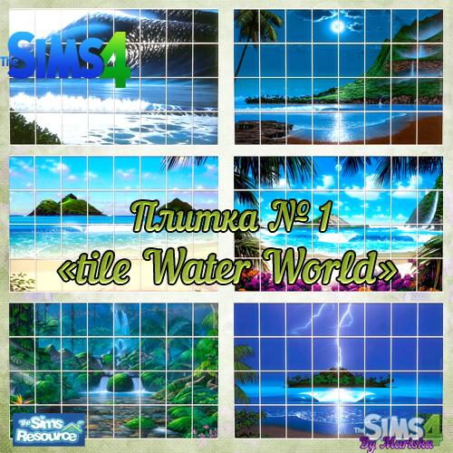 Water World tiles by Mariska at Ladesire image 413 Sims 4 Updates