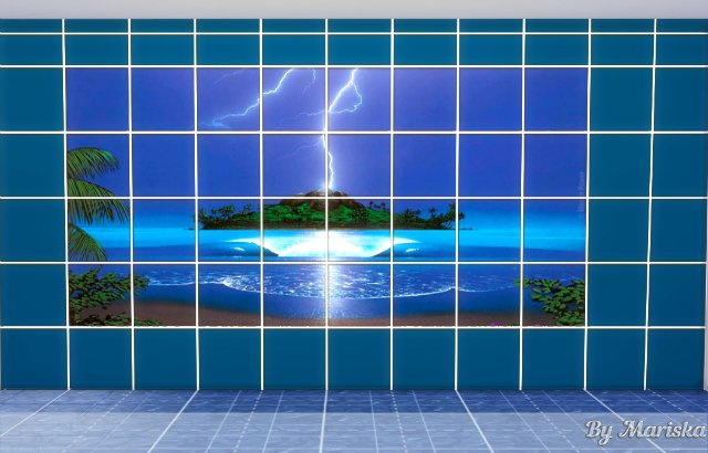 Sims 4 Water World tiles by Mariska at Ladesire
