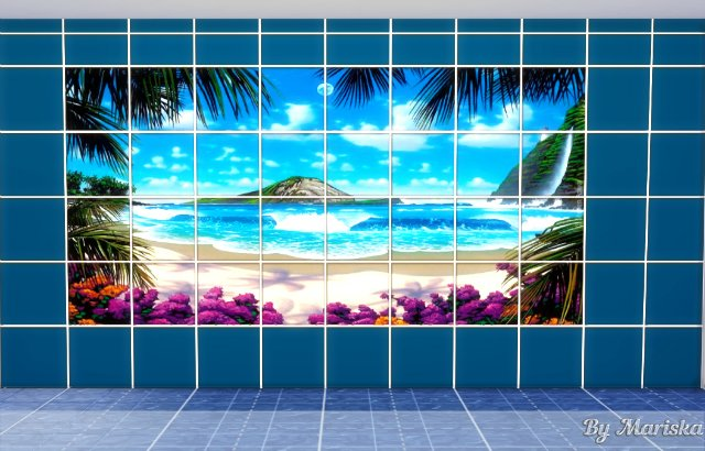 Water World tiles by Mariska at Ladesire image 415 Sims 4 Updates
