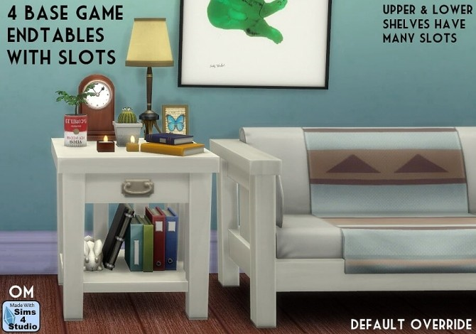 Sims 4 4 basegame endtables with slots at Sims 4 Studio
