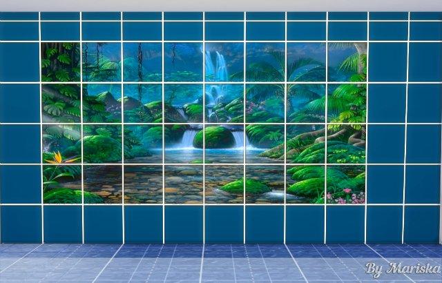 Water World tiles by Mariska at Ladesire image 416 Sims 4 Updates
