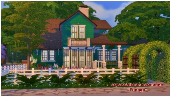 Sims 4 Verandah house at Sims by Mulena