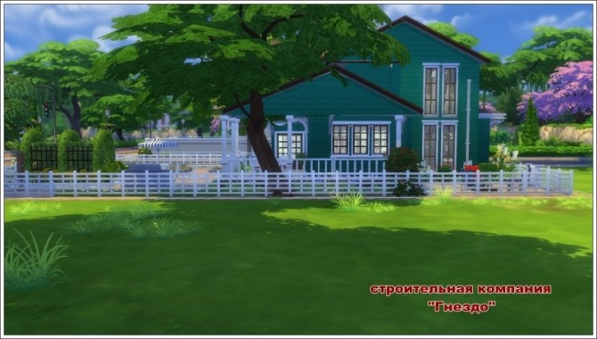 Sims 4 Verandah house at Sims by Mulena