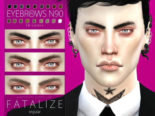 Fatalize Eyebrow Duo by Pralinesims at TSR image 42 Sims 4 Updates