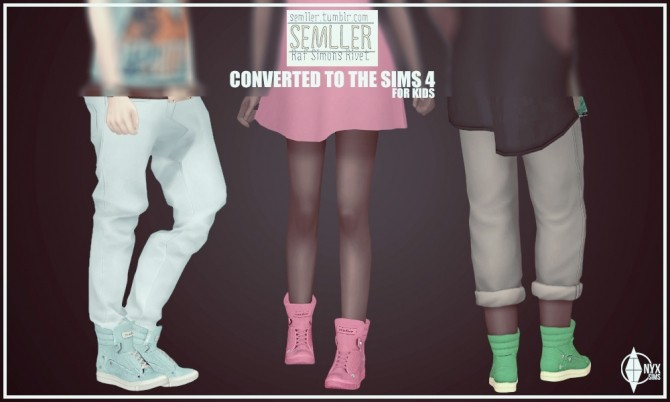 Sims 4 Semllers Raf Simons Rivets conversion for Kids at Onyx Sims