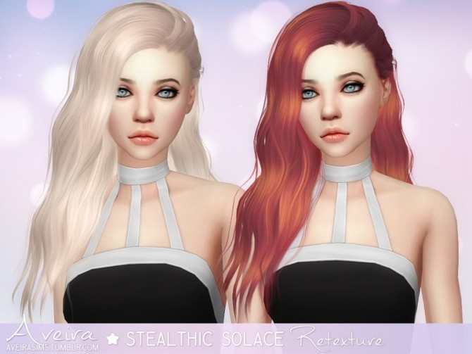 Stealthic Solace Hair Retexture at Aveira Sims 4 image 437 670x503 Sims 4 Updates