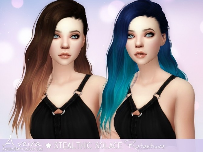 Stealthic Solace Hair Retexture at Aveira Sims 4 image 439 670x503 Sims 4 Updates