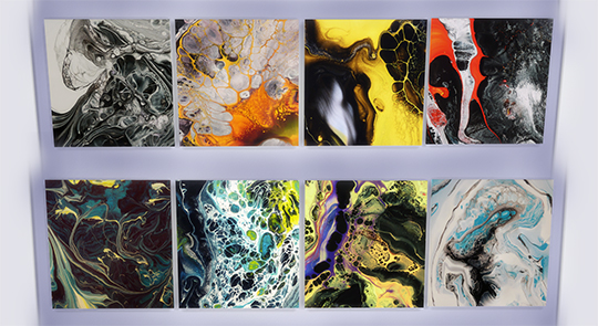 Sims 4 WOUT WERENSTEIJN EDITION  20 original abstract paintings at Zozothebrit Simmer