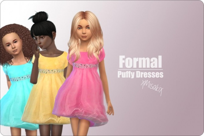 Sims 4 Puffy Dresses at xMisakix Sims