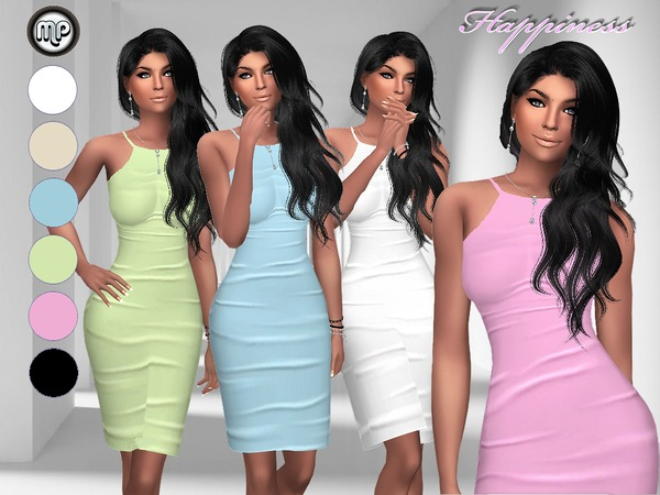 Sims 4 MP Happiness Dress at BTB Sims – MartyP