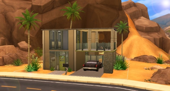 Sims 4 Modern Edge house by talkingqueen at Mod The Sims