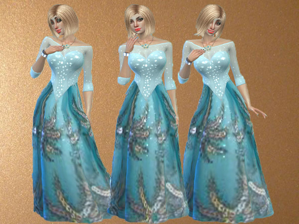 Sims 4 Amber formal dress by TrudieOpp at TSR