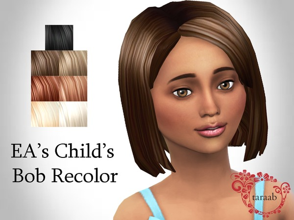 Sims 4 EAs Childs Bob Recolor by taraab at TSR
