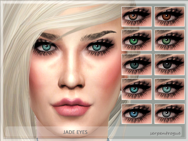 Jade Eyes by Serpentrogue at TSR image 49 Sims 4 Updates
