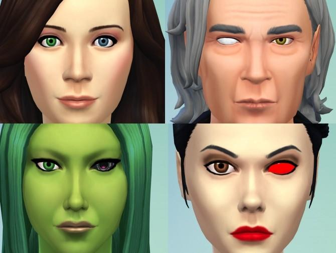 Sims 4 2 Different Eyes (Heterochromia, Blind Eye, Sci Fi/Fantasy) by Esmeralda at Mod The Sims