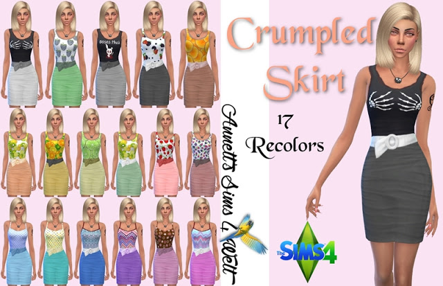 Sims 4 Crumpled Skirts at Annett's Sims 4 Welt