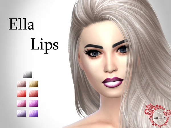 Sims 4 Ella Lips by taraab at TSR
