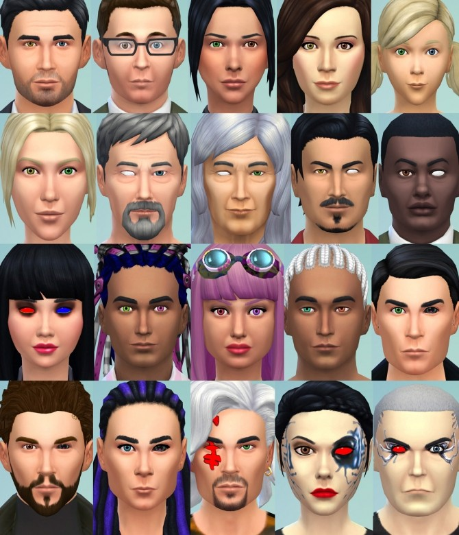 2 Different Eyes (Heterochromia, Blind Eye, Sci Fi/Fantasy) by Esmeralda at Mod The Sims image 5117 670x780 Sims 4 Updates