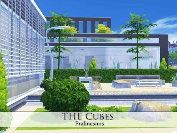 Sims 4 The Cubes house by Pralinesims at TSR