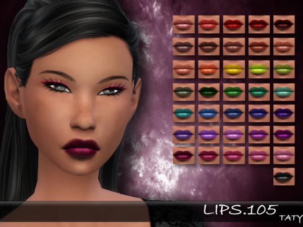 Sims 4 Lips 105 by tatygagg at TSR