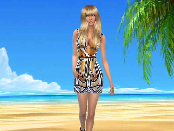 Summer romper modern Art by sweetsims4 at TSR image 5211 Sims 4 Updates