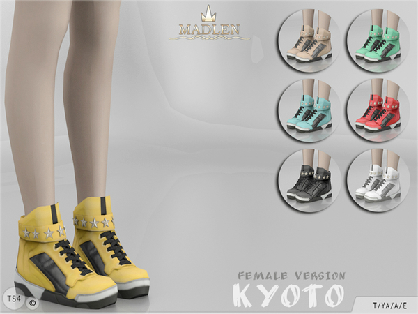 Sims 4 Madlen Kyoto Shoes F by MJ95 at TSR