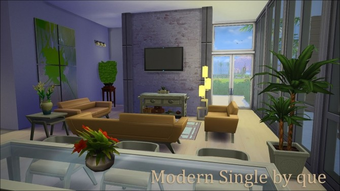 Sims 4 Modern Single Luxurious home by quiescence90 at Mod The Sims