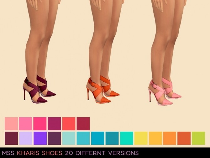 Sims 4 Kharis Shoes by midnightskysims at SimsWorkshop