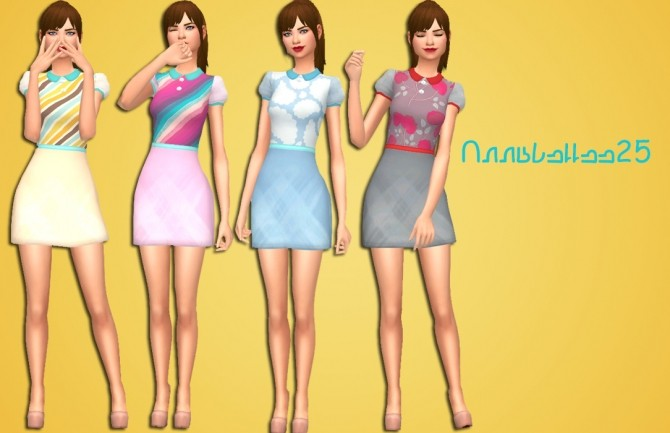 Blossom Dress by Annabellee25 at SimsWorkshop image 537 670x433 Sims 4 Updates